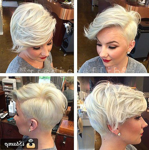 30 Standout Curly And Wavy Pixie Cuts | Badass Hair Ideas Regarding The Pixie Slash Mohawk Hairstyles (View 12 of 25)