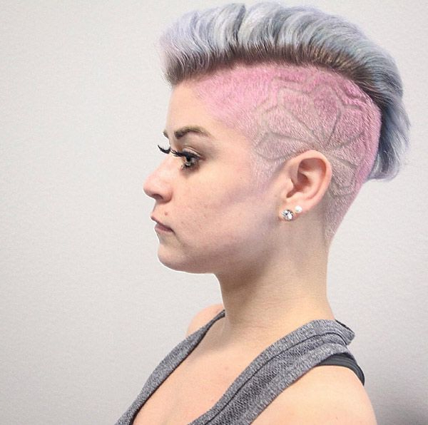 30 Stylish Undercut Hairstyles For Women | Hair | Hair, Hair Styles Within High Mohawk Hairstyles With Side Undercut And Shaved Design (View 15 of 25)
