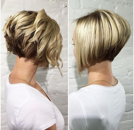 30 Trendy Stacked Hairstyles For Short Hair – Practicality Short Inside Best And Newest Two Layer Bob Hairstyles For Thick Hair (View 22 of 25)