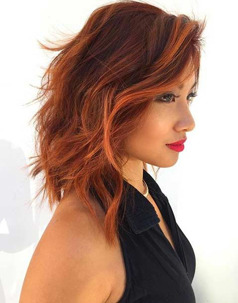 31 Best Shoulder Length Bob Hairstyles | Page 2 Of 3 | Stayglam Intended For Most Up To Date Shoulder Length Haircuts With Jagged Ends (View 19 of 25)