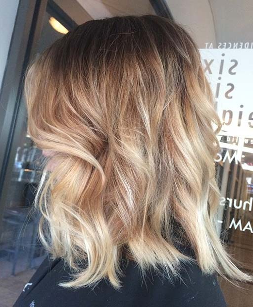 31 Lob Haircut Ideas For Trendy Women | Stayglam Intended For Recent Two Tier Caramel Blonde Lob Hairstyles (View 6 of 25)