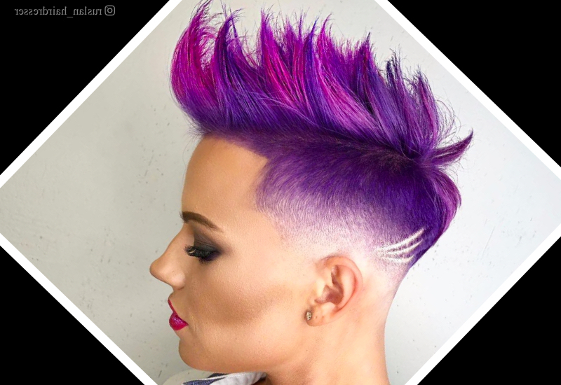 31 Punk Hairstyles Like You've Never Seen Before Within Hot Pink Fire Mohawk Hairstyles (View 7 of 25)