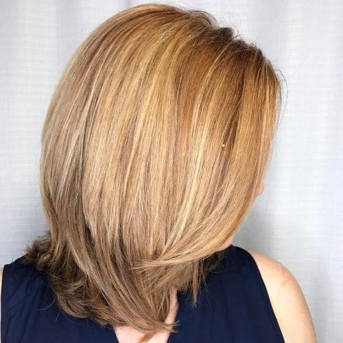 32 Layered Bob Hairstyles So Hot We Want To Try All Of Them Within Current Two Tier Caramel Blonde Lob Hairstyles (View 23 of 25)