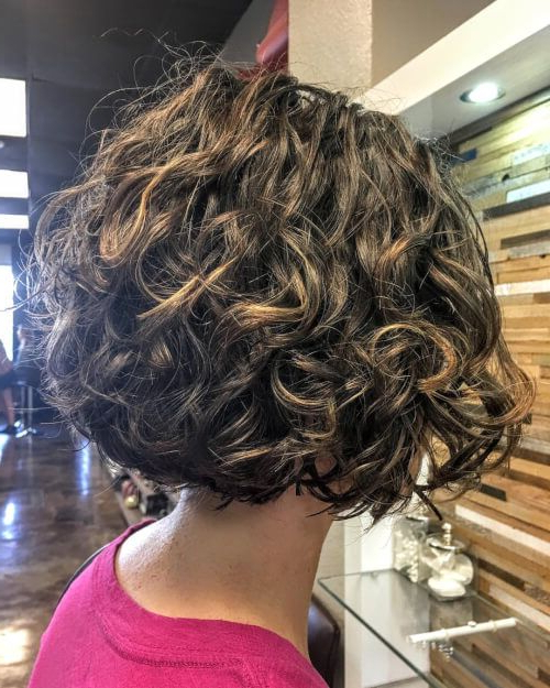 33 Perfectly Short Curly Hairstyles Trending In 2019 | Hair Intended For Newest Curly Layered Bob Hairstyles (View 4 of 25)