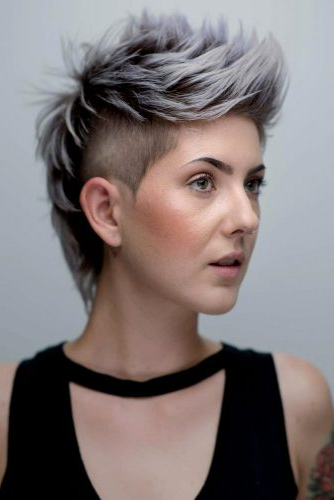 33 Short Grey Hair Cuts And Styles | Lovehairstyles With Regard To Steel Colored Mohawk Hairstyles (View 23 of 25)