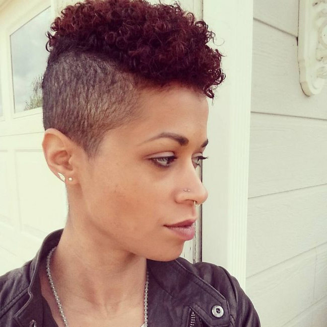 35 Great Curly Mohawk Hairstyles – Cuteness And Boldness In Curl–Accentuating Mohawk Hairstyles (View 14 of 25)