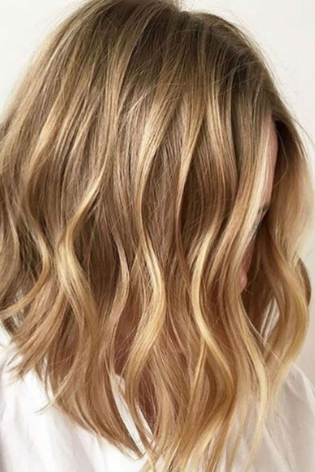 36 Blonde Balayage With Caramel, Honey, Copper Highlights | Hair Pertaining To Recent Two Tier Caramel Blonde Lob Hairstyles (View 3 of 25)