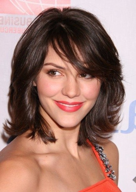 37 Haircuts For Medium Length Hair – Hairstyles & Haircuts For Men Inside Newest Flipped Lob Hairstyles With Swoopy Back Swept Layers (View 23 of 25)