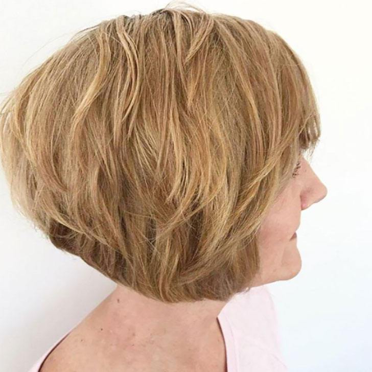 40 Best Short Hairstyles For Women Over 60 Intended For Best And Newest Bob Haircuts With Symmetrical Swoopy Layers (View 14 of 25)