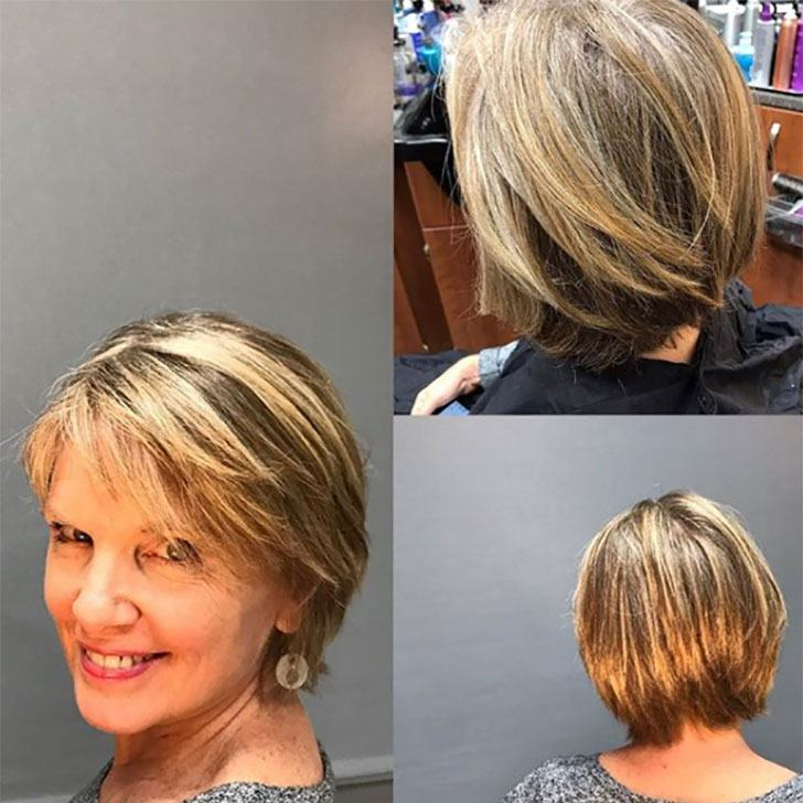 40 Best Short Hairstyles For Women Over 60 With Most Current Swoopy Layers Hairstyles For Voluminous And Dynamic Hair (View 16 of 25)