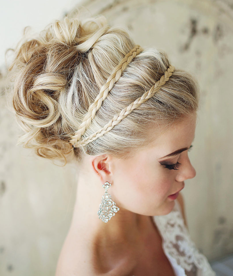 40 Chic Wedding Hair Updos For Elegant Brides | Hair | Pinterest For Athenian Goddess Faux Hawk Updo Hairstyles (View 6 of 25)