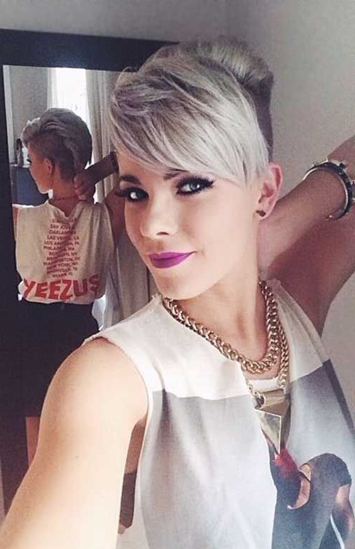 40 Long Pixie Hairstyles | Amazing Hair | Pinterest | Hair, Hair For Long Platinum Mohawk Hairstyles With Faded Sides (View 11 of 25)
