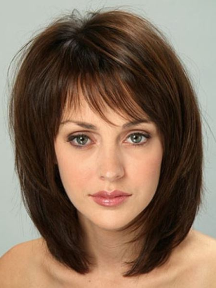 40 Medium Length Haircuts For Thick Hair Within Current Medium Hairstyles With Perky Feathery Layers (View 16 of 25)