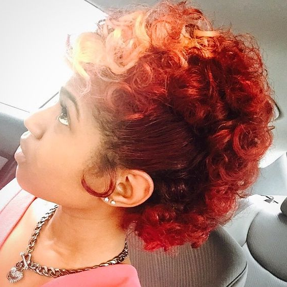 40 Mohawk Hairstyles For Black Omen With Regard To Vibrant Red Mohawk Updo Hairstyles (View 2 of 25)