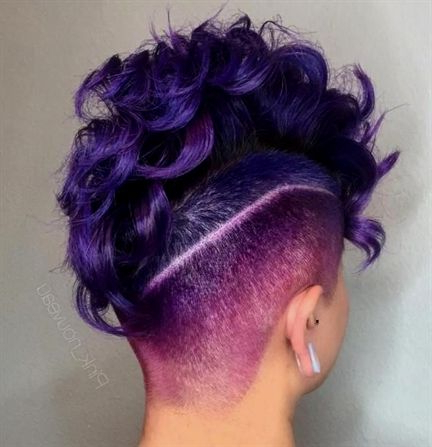 40: Purple Rain Lady Dearly Beloved, We Are Gathered Here Today To Intended For Purple Rain Lady Mohawk Hairstyles (View 3 of 25)
