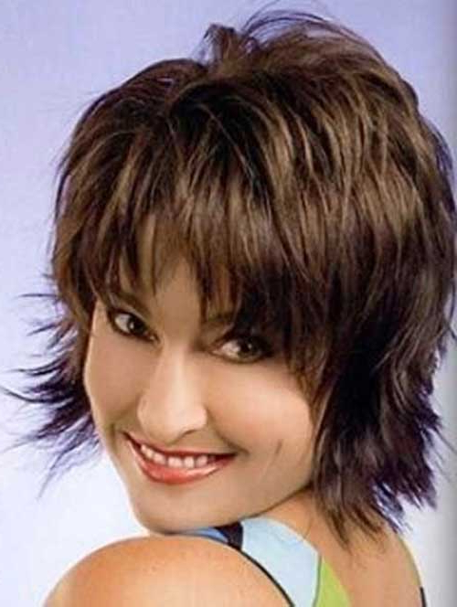 40 Ravishing Short Shag Haircuts For Women [2018] For Latest Brunette Messy Shag Hairstyles (View 7 of 25)