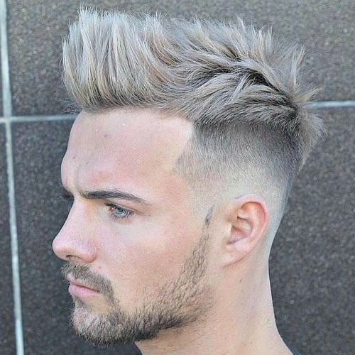 40 Stylish Haircuts For Men | Best Hairstyles For Men | Pinterest Throughout Long Platinum Mohawk Hairstyles With Faded Sides (View 10 of 25)