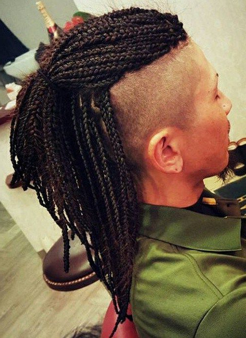 40 Upscale Mohawk Hairstyles For Men | Hair Style | Pinterest | Box For Mini Braided Babe Mohawk Hairstyles (View 20 of 25)