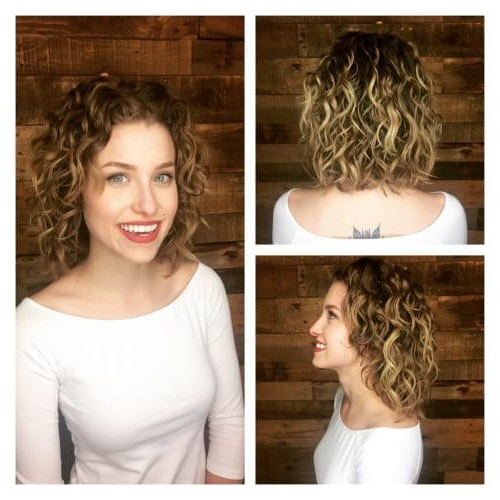 42 Curly Bob Hairstyles That Rock In 2019 Intended For 2018 Layered Wavy Lob Hairstyles (View 15 of 25)