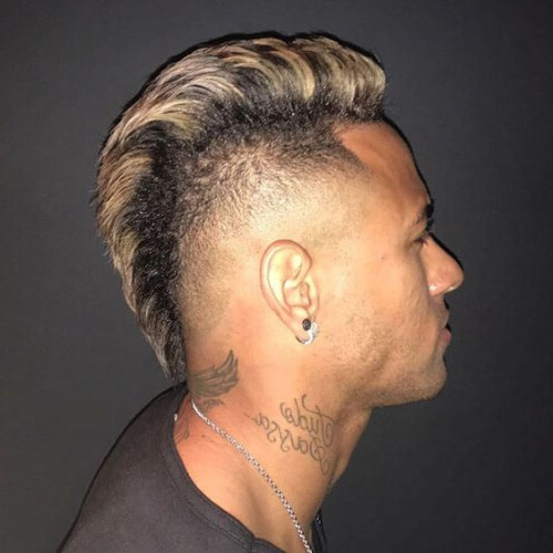 45 Amazing Neymar Haircut Ideas | Menhairstylist Men Hairstylist Within Mohawk Haircuts With Blonde Highlights (View 16 of 25)