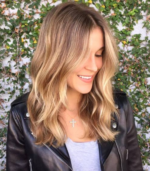 45 Balayage Hair Color Ideas 2019 – Blonde, Brown, Caramel, Red Regarding Recent Medium Golden Bronde Shag Hairstyles (View 11 of 25)