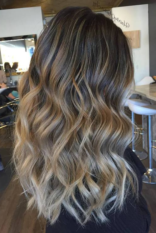 45 Balayage Hair Color Ideas 2019 – Blonde, Brown, Caramel, Red Within Most Popular Two Tier Caramel Blonde Lob Hairstyles (View 11 of 25)