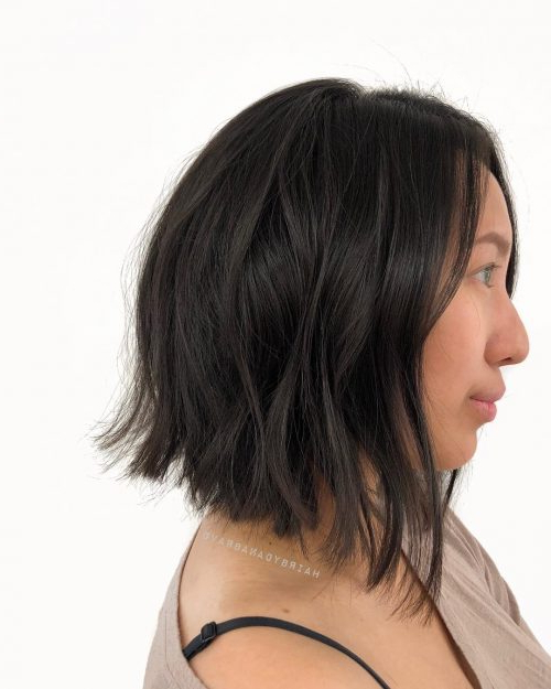 45 Chic Choppy Bob Hairstyles For 2019 Pertaining To Most Recently Straight Layered Tresses In A Line Hairstyles (View 14 of 25)
