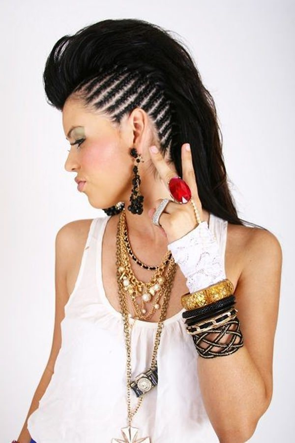 45 Fantastic Braided Mohawks To Turn Heads And Rock This Season Throughout Mohawk Hairstyles With Multiple Braids (View 16 of 25)