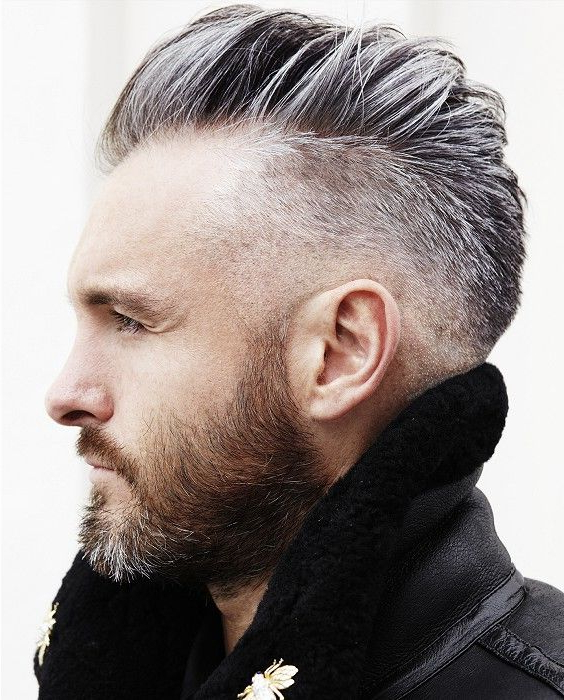 50 Best Grey Hairstyles & Haircuts For Men Within Silvery White Mohawk Hairstyles (View 21 of 25)