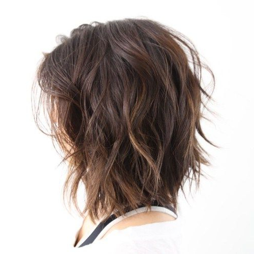 Featured Photo of Brunette Messy Shag Hairstyles