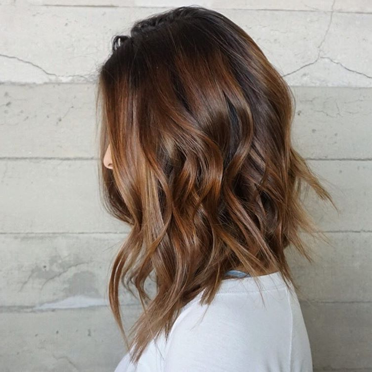 50 Best Variations Of A Medium Shag Haircut For Your Distinctive Intended For Most Recent Caramel Lob Hairstyles With Delicate Layers (View 12 of 25)