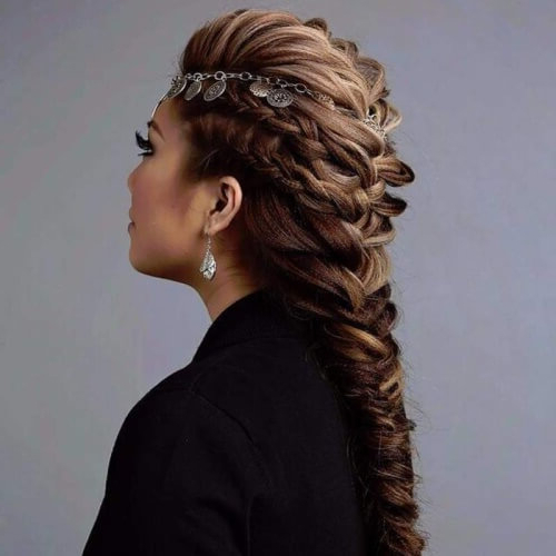 50 Braided Mohawk Hairstyles | Hair Motive Hair Motive Pertaining To French Braid Pinup Faux Hawk Hairstyles (View 15 of 25)