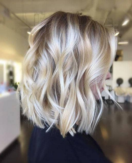 50 Fresh Short Blonde Hair Ideas To Update Your Style In 2018 In Current Two Tier Caramel Blonde Lob Hairstyles (View 20 of 25)