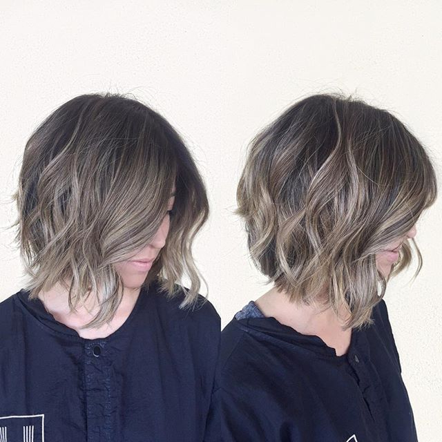 50 Hottest Balayage Hairstyles For Short Hair – Balayage Hair Color In Most Up To Date Point Cut Bob Hairstyles With Caramel Balayage (View 25 of 25)
