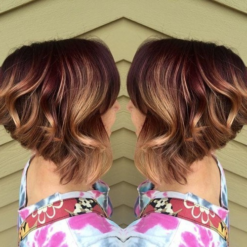 50 Hottest Balayage Hairstyles For Short Hair – Balayage Hair Color Regarding Most Recently Point Cut Bob Hairstyles With Caramel Balayage (View 7 of 25)