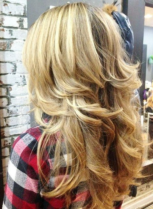 50 Lovely Long Shag Haircuts For Effortless Stylish Looks | Makeup With Regard To Latest Layered Haircuts For Thick Wavy Hair (View 6 of 25)