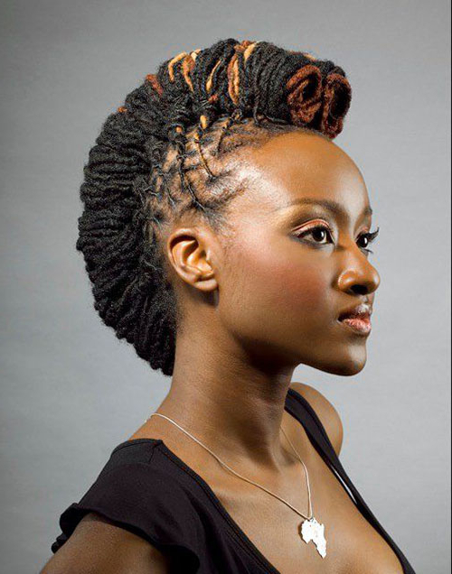 50 Mohawk Hairstyles For Black Women | Stayglam Intended For Small Braids Mohawk Hairstyles (View 8 of 25)