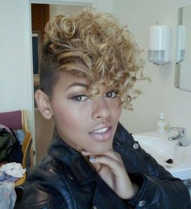 50 Mohawk Hairstyles For Black Women | Stayglam Regarding Blonde Mohawk Hairstyles (View 12 of 25)