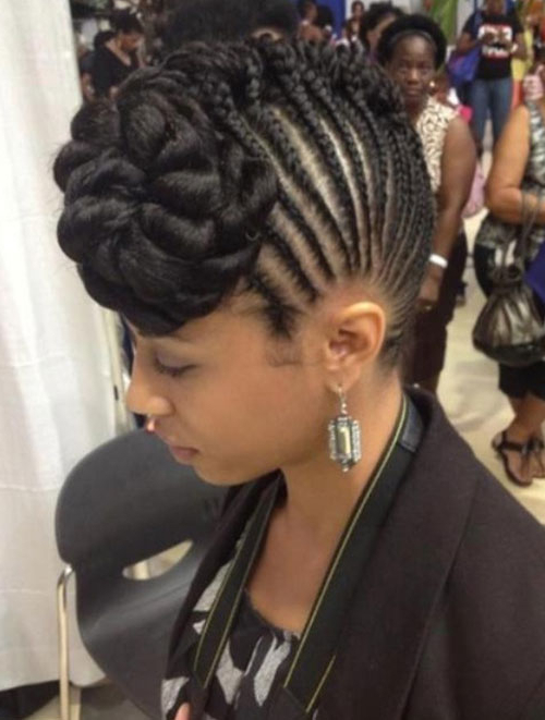 50 Mohawk Hairstyles For Black Women | Stayglam Regarding Small Braids Mohawk Hairstyles (View 19 of 25)