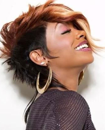 50 Mohawk Hairstyles For Black Women   Stayglam With Regard To Unique Color Mohawk Hairstyles (View 22 of 25)