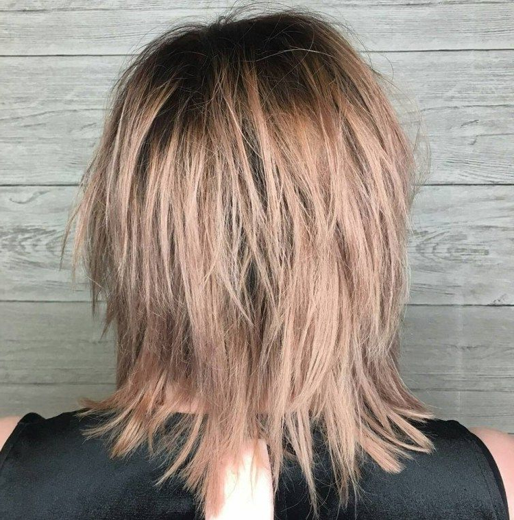 50 Most Universal Modern Shag Haircut Solutions In 2018 | Haircuts In Newest Medium Golden Bronde Shag Hairstyles (View 3 of 25)