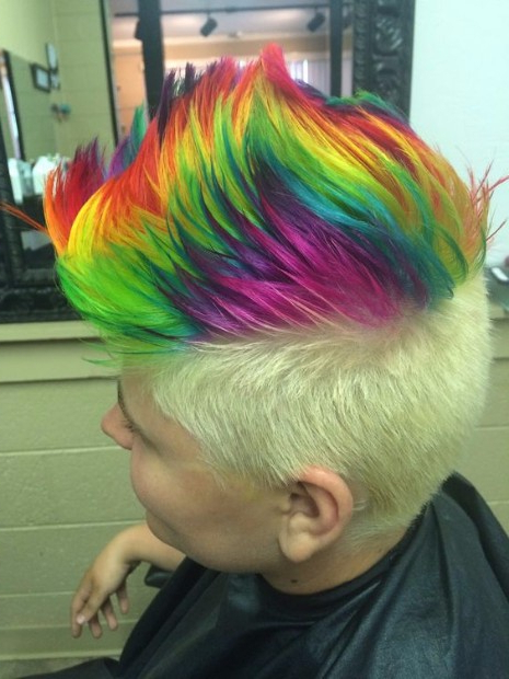 50 Of The Greatest Mohawks – Hairstyles & Haircuts For Men & Women Regarding Rainbow Bright Mohawk Hairstyles (View 12 of 25)