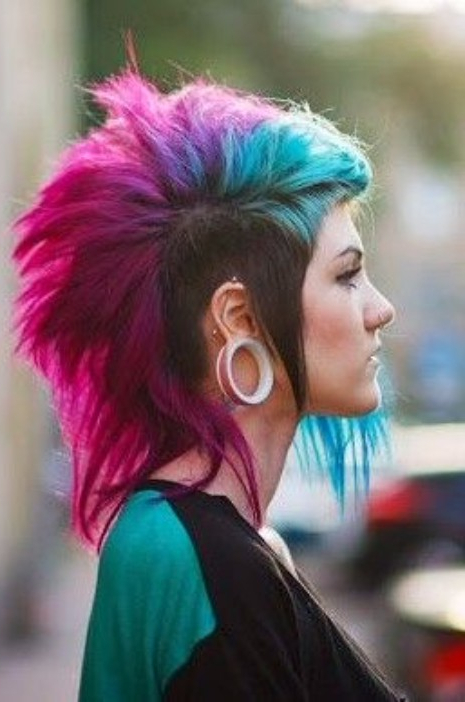 50 Of The Greatest Mohawks – Hairstyles & Haircuts For Men & Women Throughout Rainbow Bright Mohawk Hairstyles (View 8 of 25)