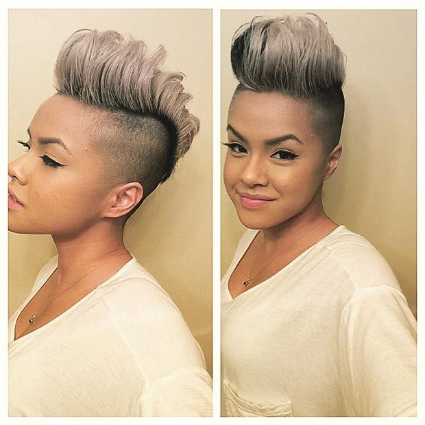 50 Short Hairstyles For Black Women | Stayglam Hairstyles | Short For Bleached Feminine Mohawk Hairstyles (View 14 of 25)