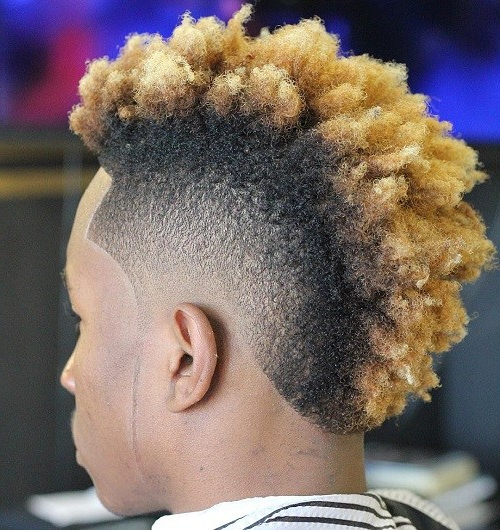 50 Stylish Fade Haircuts For Black Men – Page 18 – Foliver Blog With Regard To Bleached Mohawk Hairstyles (View 15 of 25)