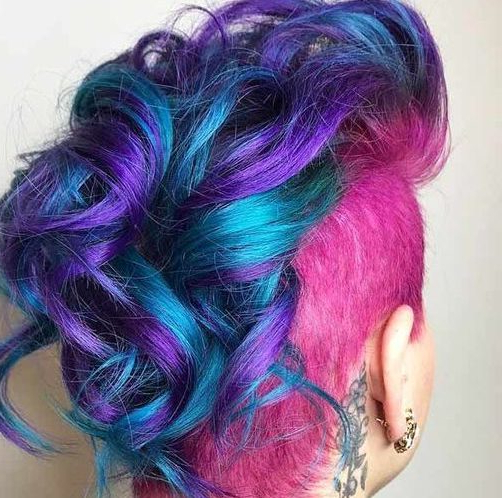 50 Sweet Curly Mohawk Ideas | Hair Motive Hair Motive Within Lavender Ombre Mohawk Hairstyles (View 12 of 25)
