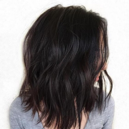 50 Timeless Medium Length Haircuts For Thick Hair | All Women Hairstyles In Best And Newest Shoulder Length Haircuts With Jagged Ends (View 7 of 25)