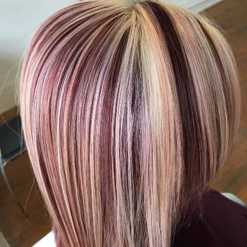 50 Vivid Burgundy Hair Color Ideas For This Fall | Hair Motive Hair For Latest Burgundy Bob Hairstyles With Long Layers (View 15 of 25)