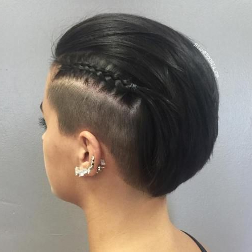 50 Women's Undercut Hairstyles To Make A Real Statement | Side With Mini Braided Babe Mohawk Hairstyles (View 17 of 25)
