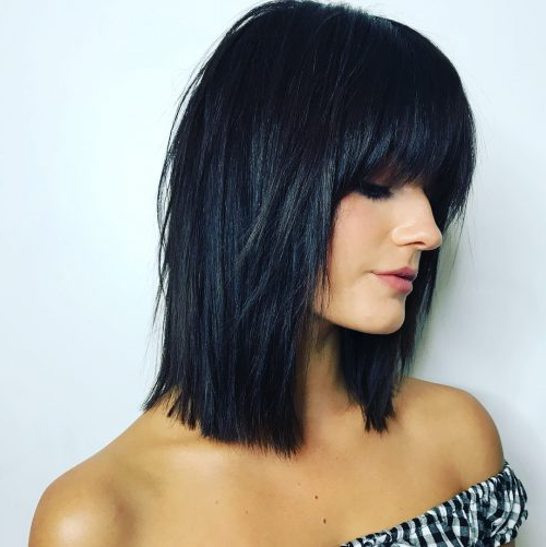 51 Stunning Medium Layered Haircuts (Updated For 2019) Regarding Current Mid Length Two Tier Haircuts For Thick Hair (View 19 of 25)